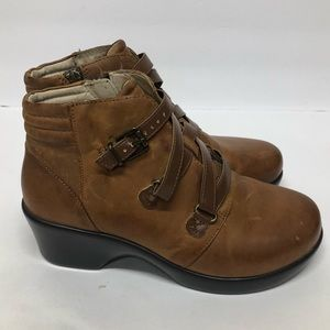 Algeria by PG Lite Brown Leather Ankle Boots